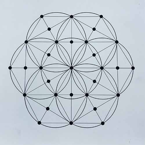 Grid Mat Seed of Life